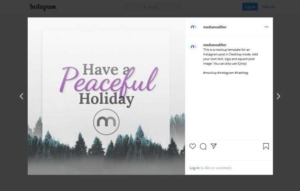 Holiday Card Instagram Post Maker