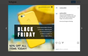 Black Friday Holiday Sales Offer Instagram Post
