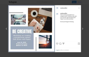 Motivation and Productivity Instagram Post