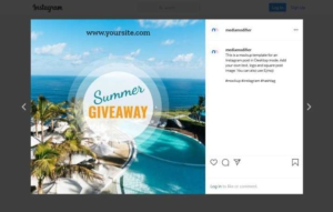Summer Giveaway Instagram Post