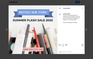 Cosmetics Offer Instagram Post Template
