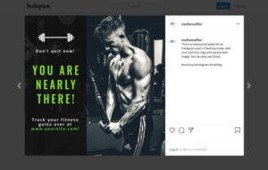 Fitness and Gym Instagram Post Maker