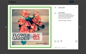 Garden and Flower Instagram Post Maker