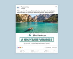 Travel and Tourism Facebook Post Maker