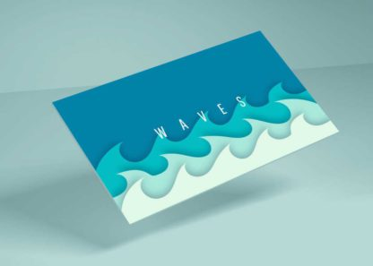 Waves Youtube Channel Art Template