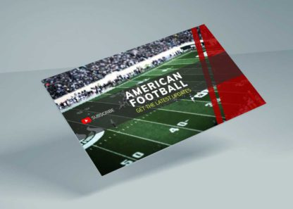 American Football Youtube Cover Template