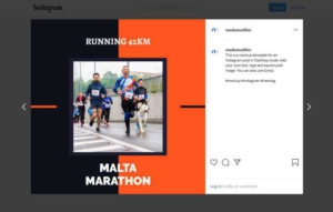Running Marathon Instagram Post Template