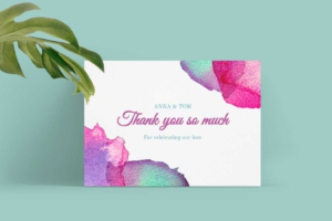 Colorful Wedding Greeting Card Template