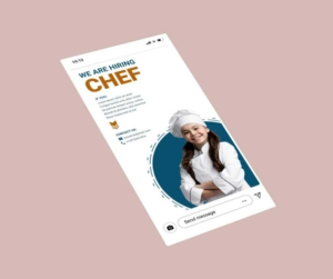 We are Looking Chef Instagram Story