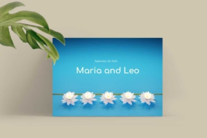 Wedding Card with Lotuses Greeting Card