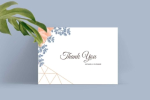Lovely Wedding Invitation Template - Thank You