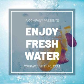 Drink Fresh Water Banner Maker