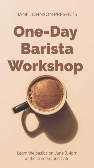 Coffee Workshop Instagram Story Maker