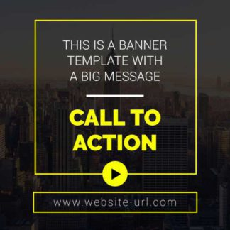 Free Urban Call to Action Banner Template