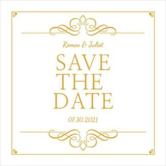 Free Save the Date Wedding Instagram Post Maker