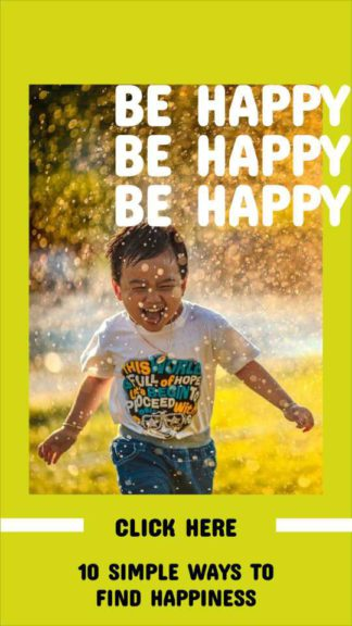 Be Happy Instagram Story Design Template