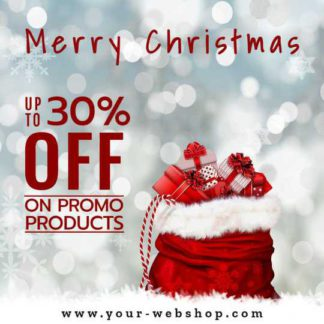 Merry Christmas Holiday Discount Instagram Post