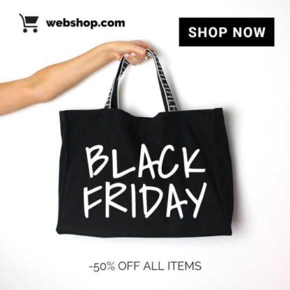 Black Friday Holiday Sales Banner Template