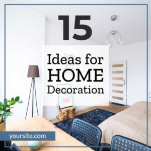 Home Decoration Idea Instagram Post Maker