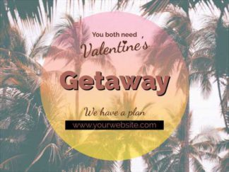 Valentine Getaway Promo Facebook Post Template