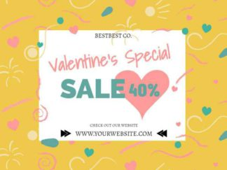 Valentines Day Special Sale Facebook Post Template