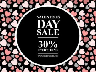 Valentines Day Sale Facebook Post Template