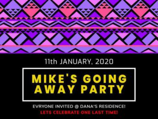 Party Invitation Facebook Post Template