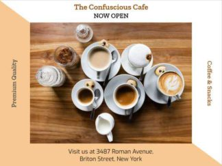 Coffee Shop Ad Facebook Post Template