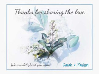 Wedding Thank You Note Facebook Post Template