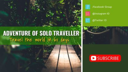 Travel and Tour Youtube Channel Art