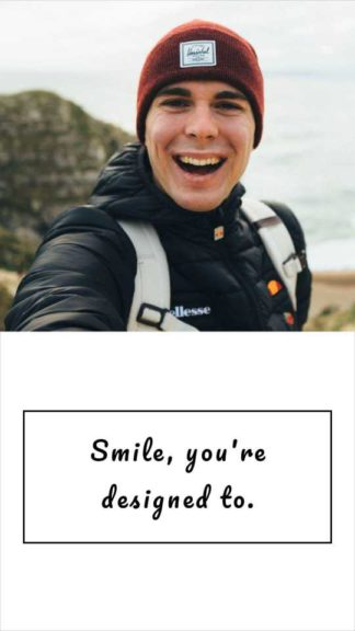 Selfie with Quote Instagram Story Template