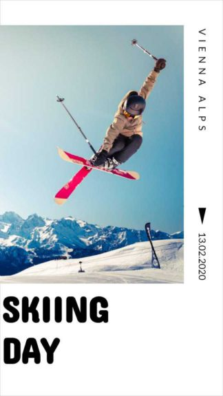 Skiing Day Instagram Story Template