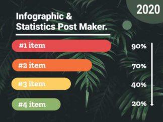 Infographic and Statistics Facebook Post Template