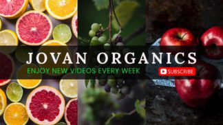 Food and Organic Youtube Channel Art