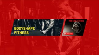 Fitness And Gym Youtube Banner Template