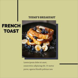 French Toast Instagram Post Template