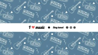 Music Instruments YouTube Cover Template