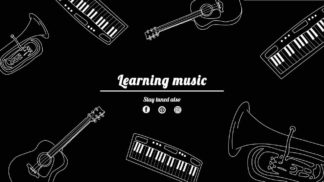 Music Instrument YouTube Channel Cover