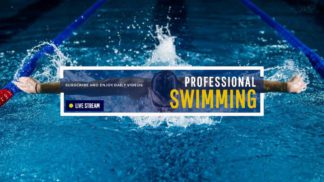 Swimming and Fitness Youtube Channel Art
