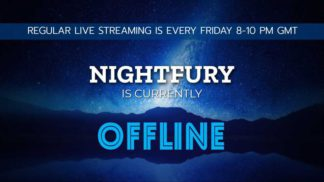 Night Themed Twitch Offline Banner Template