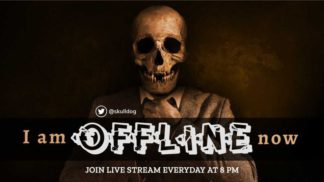 Skull Themed Twitch Offline Banner