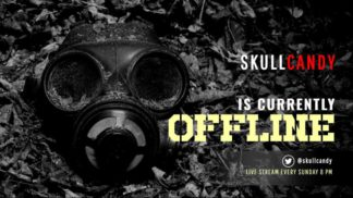 Dark Mask Twitch Offline Banner Template