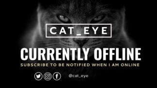 Dark Cat Twitch Offline Banner
