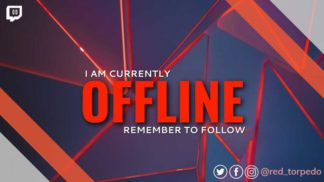 Red Geometrical Twitch Offline Banner