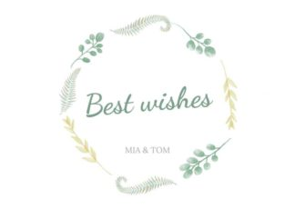 Best Wishes Greeting Card Template