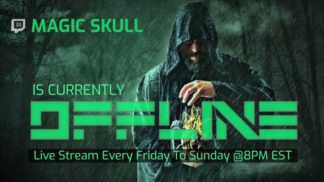 Green Magic Twitch Offline Banner