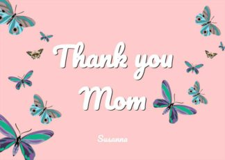 Thank You Mom Greeting Card Template