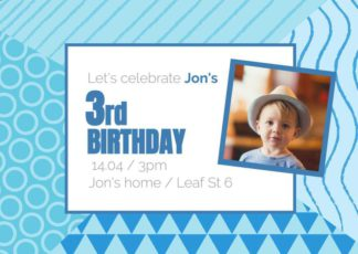Birthday Invite Greeting Card Template