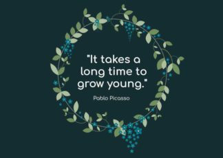 Young Quote Greeting Card Template