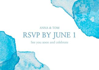 Blue Wedding RSVP Card Template